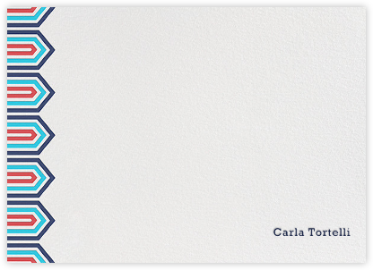 Bargello Side - Navy - Jonathan Adler - Personalized Stationery