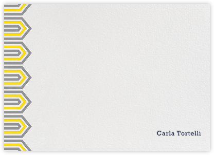 Bargello Side - Yellow - Jonathan Adler - Personalized Stationery