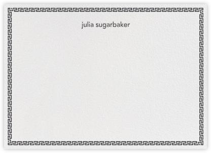 Greek Border - Black - Jonathan Adler - Personalized Stationery