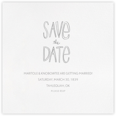 Save The Date Handwriting | square