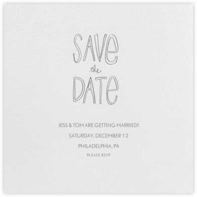 Save The Date Handwriting - Linda and Harriett - Before the invitation cards