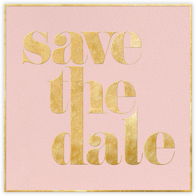 A Golden Date - Rose/Gold - kate spade new york - Gold and metallic save the dates