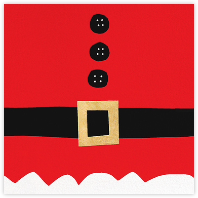 Ho Ho Ho Santa Belt (Greeting) - kate spade new york - Kate Spade invitations, save the dates, and cards