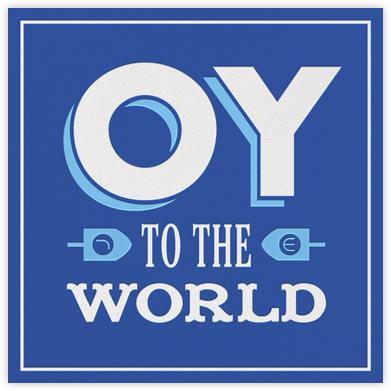 Oy Ve - Blue - Jonathan Adler - Hanukkah cards