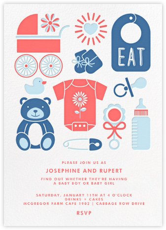 Baby Gear - Gender Reveal - Paperless Post - Baby shower invitations