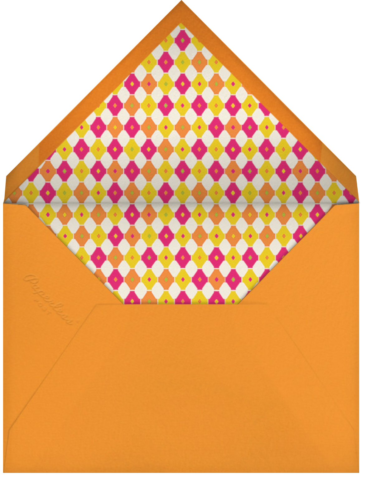Danke - Pink - Jonathan Adler - Graduation thank you cards - envelope back