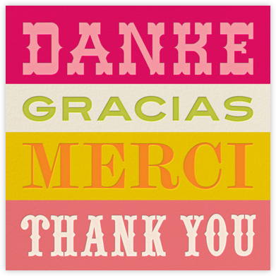 Danke - Pink - Jonathan Adler - Online Thank You Cards