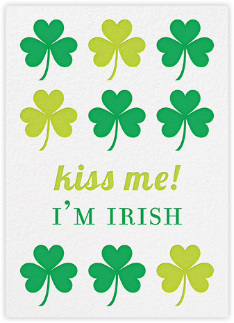 Irish Kisses - Jonathan Adler - St. Patrick's Day cards