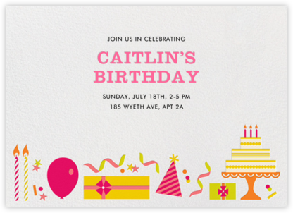 Birthday Soiree - Pink and Yellow - Jonathan Adler - Online Kids' Birthday Invitations