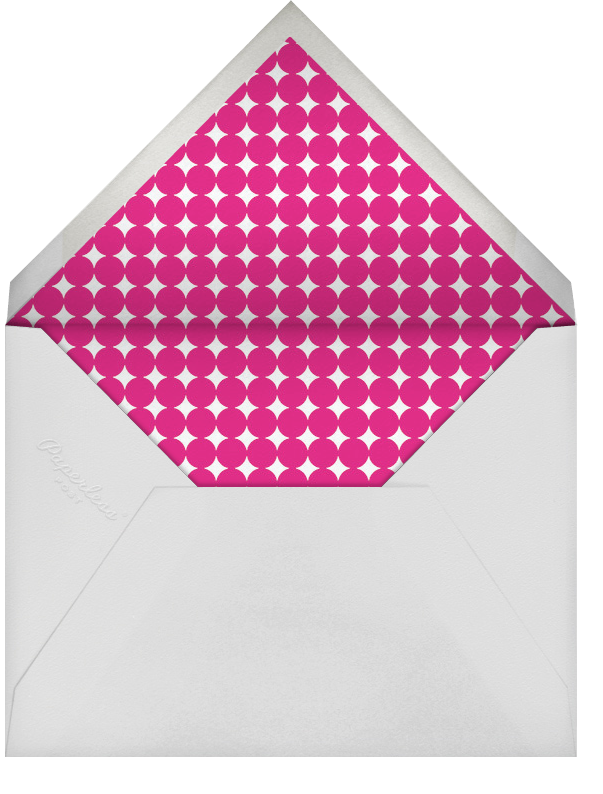 Cake and Candles (Invitation) - Blue - Jonathan Adler - Adult birthday - envelope back