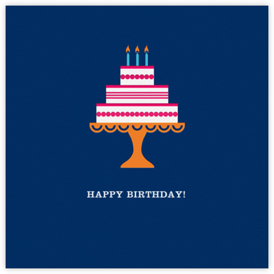 Cake and Candles (Greeting) - Blue - Jonathan Adler - Birthday