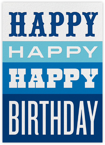 Happy Happy Happy - Blue - Jonathan Adler - Birthday