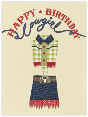 Happy Birthday Cowgirl - Paperless Post - Birthday Cards
