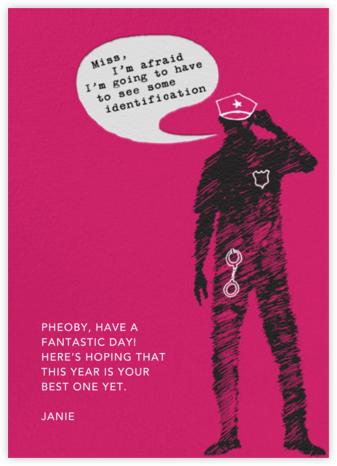 Hot Cop - Paperless Post - Birthday Cards
