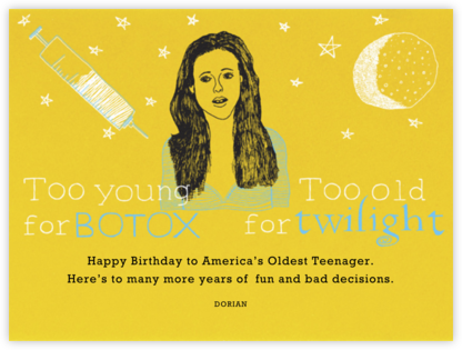 Too Young for Botox - Paperless Post - Birthday Cards