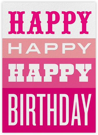 Happy Happy Happy - Pink - Jonathan Adler - Jonathan Adler