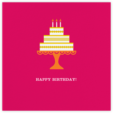 Cake and Candles (Greeting) - Pink - Jonathan Adler -