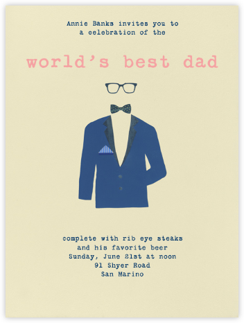 Handsome - Paperless Post - Father's day invitations