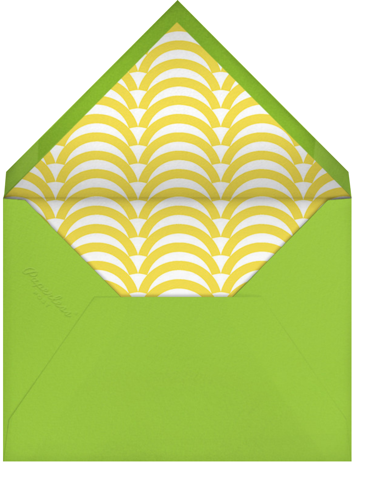 Sunflower - Yellow and Green - Jonathan Adler - Just because - envelope back