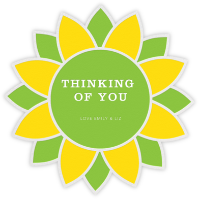 Sunflower - Yellow and Green - Jonathan Adler - Just because cards