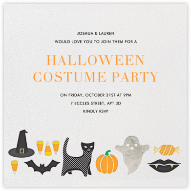 Costume Crazy - Jonathan Adler - Halloween invitations