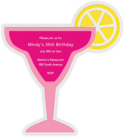 On the Rocks (Invitation) - Pink - Jonathan Adler - Adult birthday invitations