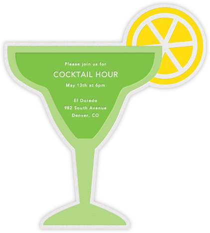 On the Rocks (Invitation) - Green - Jonathan Adler - Happy Hour Invitations