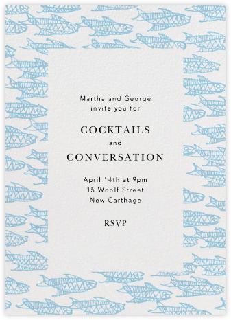 Painted Fish - Ivory - Oscar de la Renta - General Entertaining Invitations