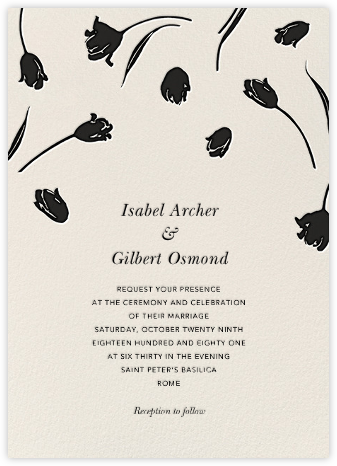 Tulip Dot - Black  - Oscar de la Renta - Wedding Invitations