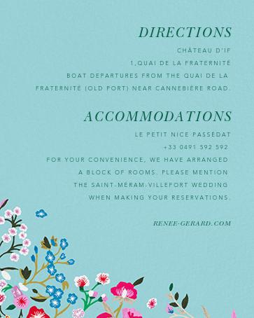 Embroidered Floral - Aquamarine  - Oscar de la Renta - All - insert front