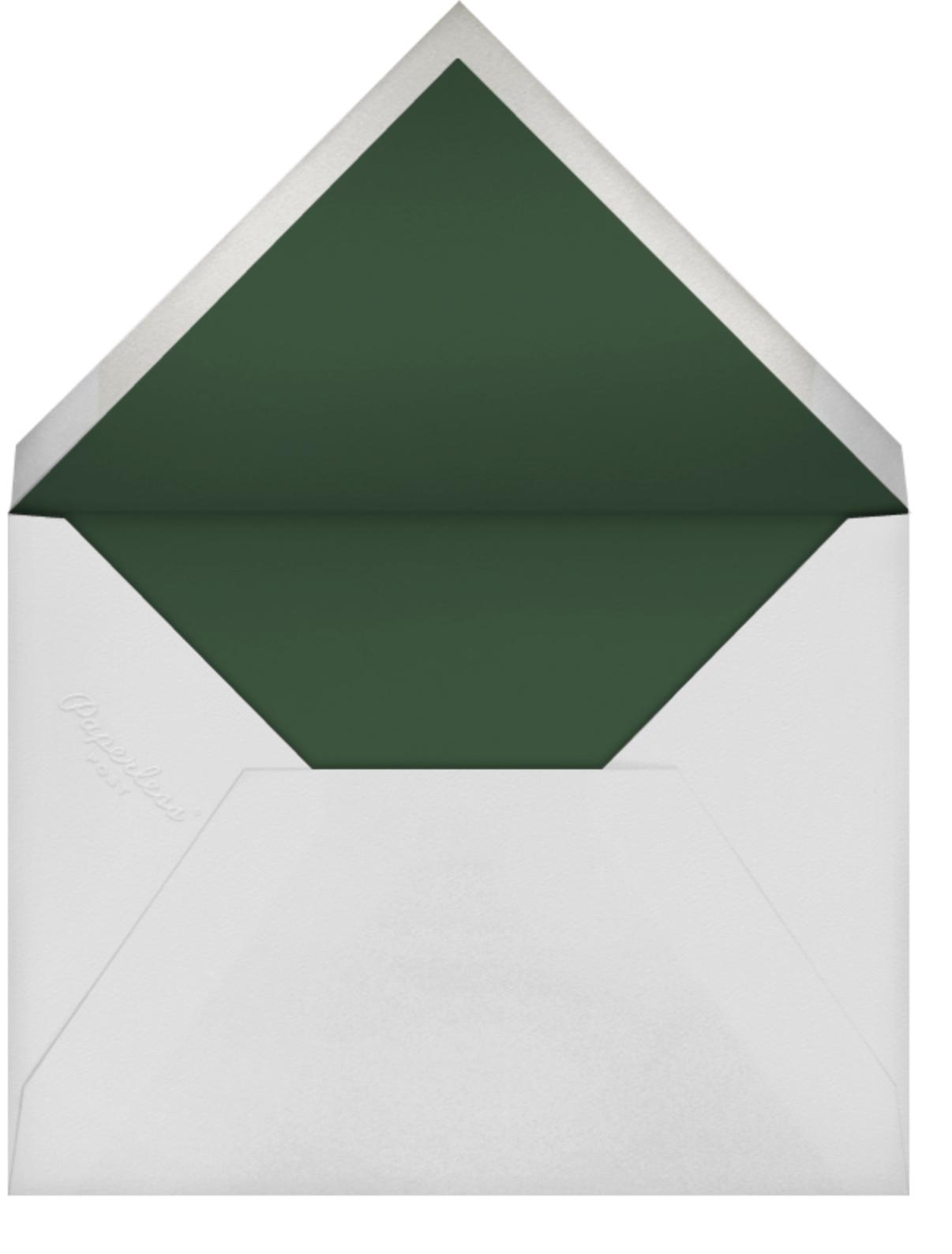 Embroidered Floral (Stationery) - Aquamarine  - Oscar de la Renta - Personalized stationery - envelope back