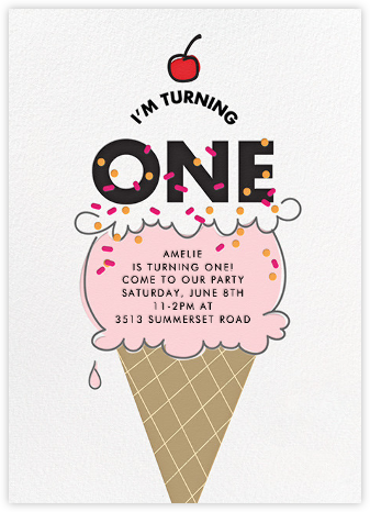 Cherry on Top (One) - Pink - Paper + Cup - Paper + Cup Invitations