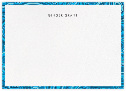 Malachite - Blue - Jonathan Adler - Personalized Stationery