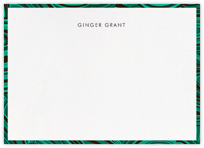Malachite - Green - Jonathan Adler - Personalized Stationery