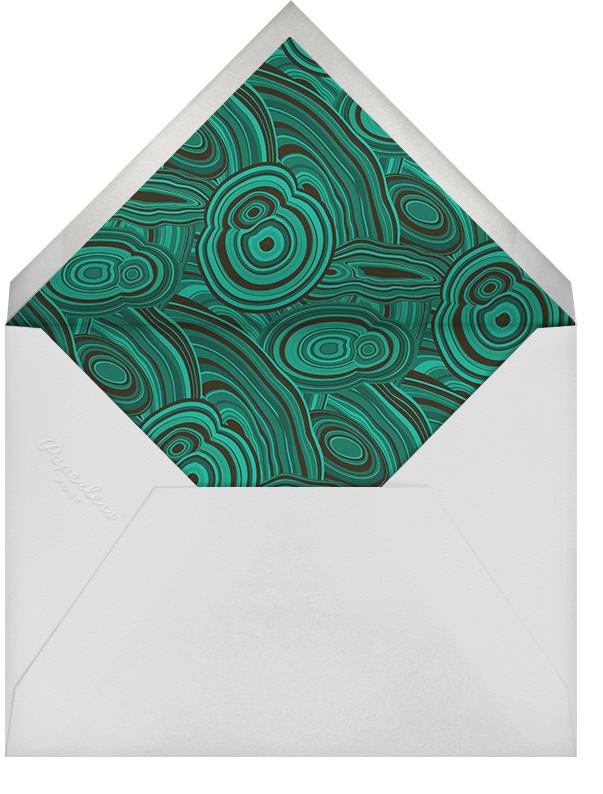 Malachite - Green - Jonathan Adler - Personalized stationery - envelope back