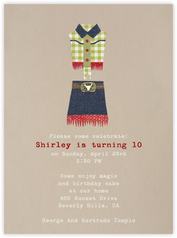 Annie Oakley - Paperless Post - Kids' birthday invitations