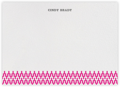Stepped Chevron - Hot Pink - Jonathan Adler - Personalized Stationery