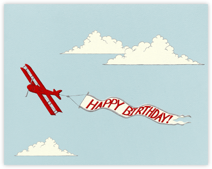 Birthday Biplane - Paperless Post - Online Greeting Cards