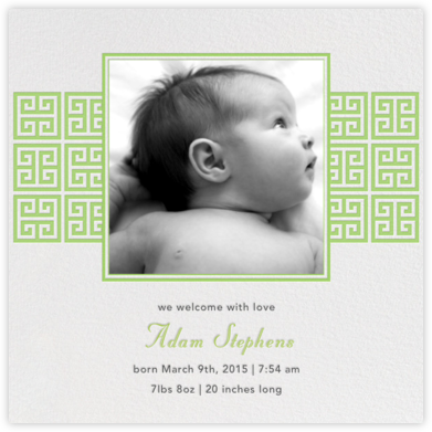 Greek Key Stripe - Green - Jonathan Adler -