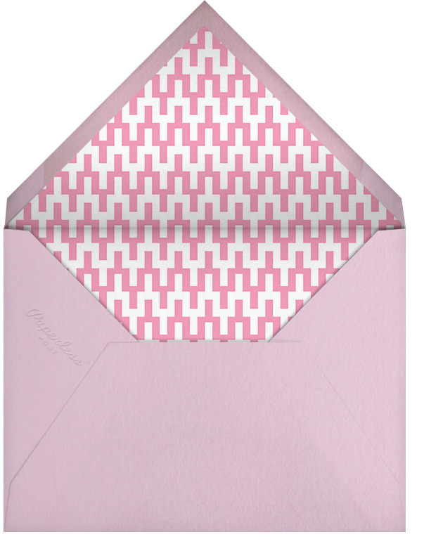 Junior - Pink - Jonathan Adler - Kids' stationery - envelope back