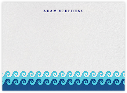 Wave on Wave - Jonathan Adler - Personalized Stationery