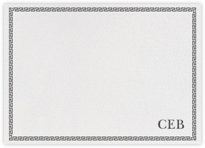 Greek Border Monogram - Gray | horizontal