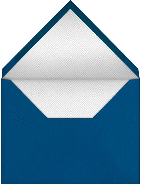 Greek Border Monogram - Blue - Jonathan Adler - Envelope