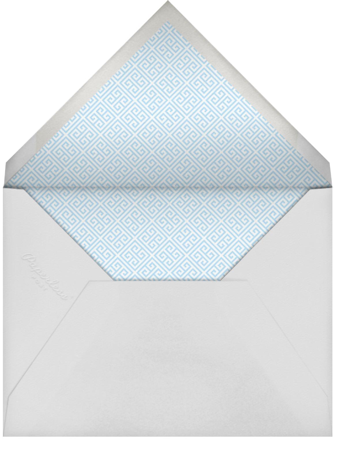 Greek Key Stripe - Blue - Jonathan Adler - Envelope