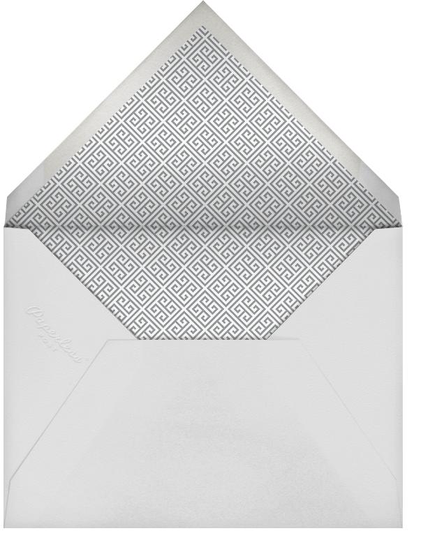 Greek Key Stripe - Gray - Jonathan Adler - Baby boy announcements - envelope back