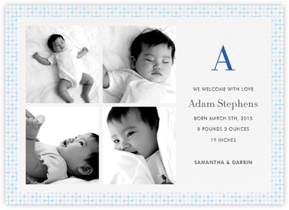 Jacks (Photo) - Blue - Jonathan Adler - Birth Announcements