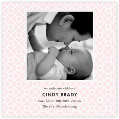 Nixon (Photo) - Pink - Jonathan Adler - Birth Announcements