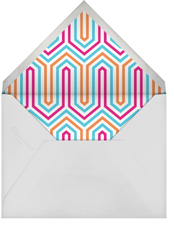Bargello Side - Pink and Orange - Jonathan Adler - Personalized stationery - envelope back