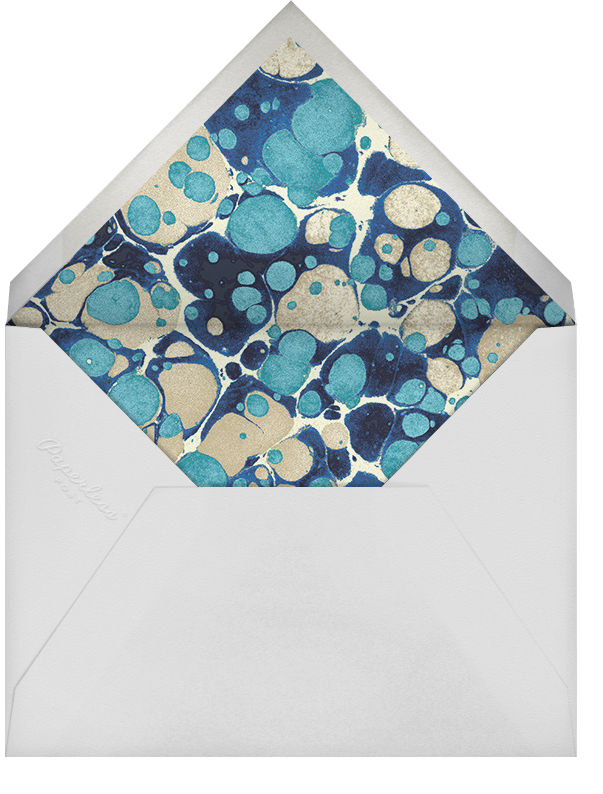 Oil Drop - Aquamarine - Jonathan Adler - Rehearsal dinner - envelope back