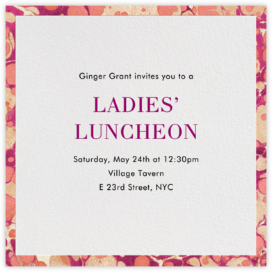 Oil Drop - Fucshia - Jonathan Adler - Brunch invitations